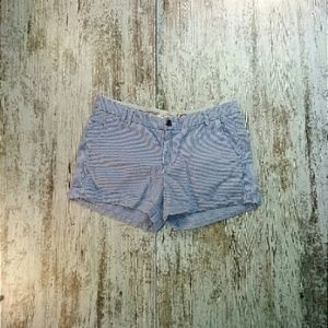 Pants - H&M Blue Pinned Stripped Shorts